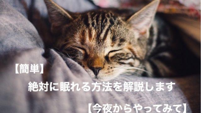 簡単】絶対に眠れる方法を解説します【今夜からやってみて】